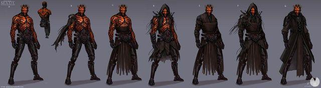 new images and illustrations of the game of Darth Maul