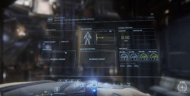 Star Citizen presents the system MobiGlas in a new video