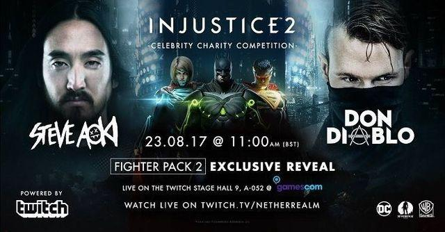 The next pack of fighters for Injustice 2 to be announced at Gamescom