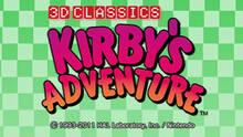 Kirby's Adventure 3D Classics eShop