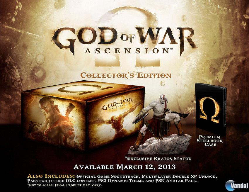 Se muestra la edici�n coleccionista de God of War: Ascension