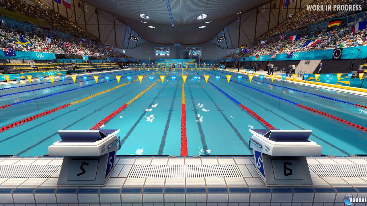Se muestra la piscina ol mpica en london 2012 el for Piscine montparnasse