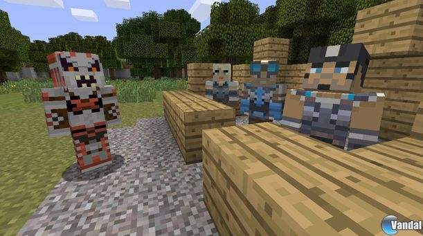 Gears of War, Super Meat Boy, y ms, en Minecraft