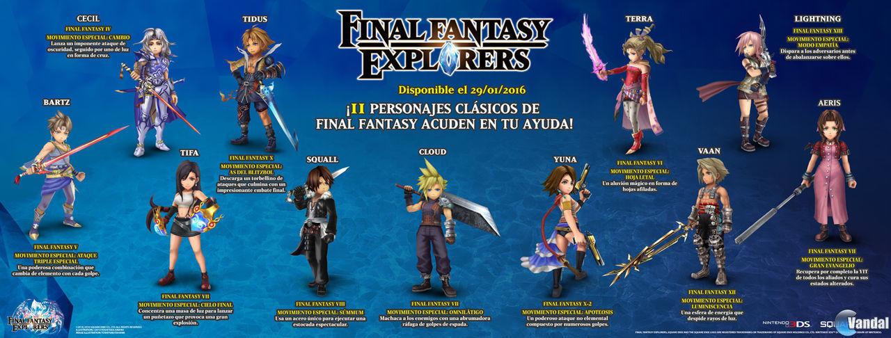 Nuevo tr 225 iler e infograf 237 a de final fantasy explorers imagen 1
