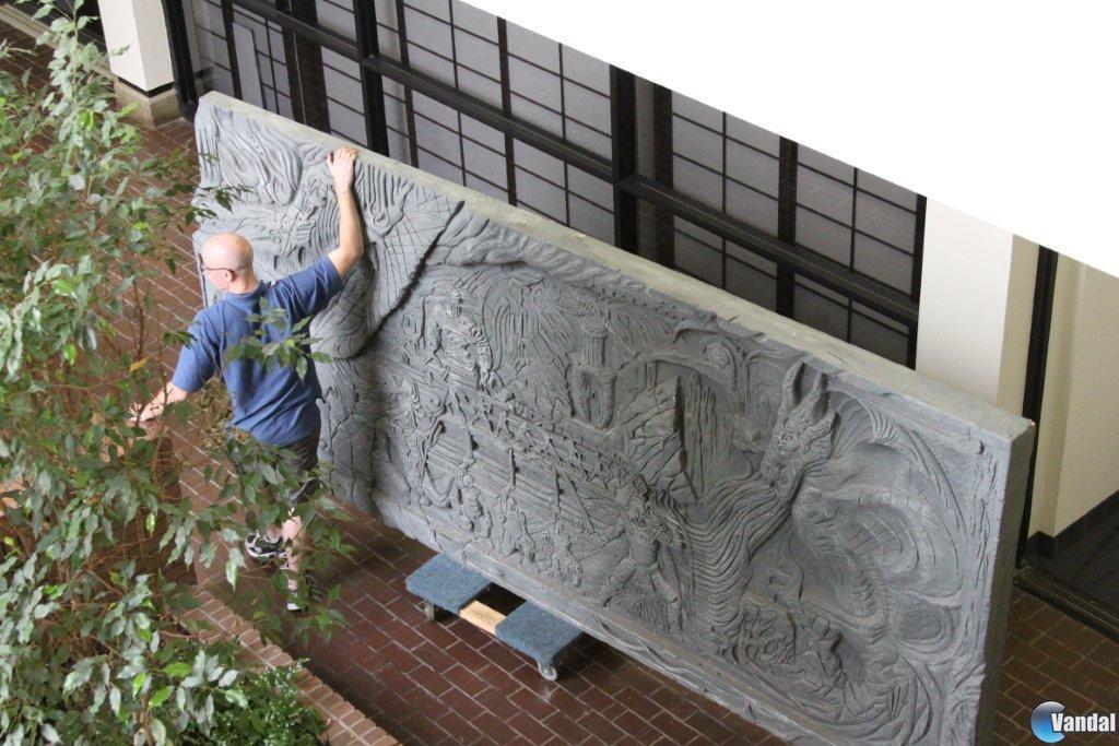 Bethesda adorna sus oficinas con una recreaci�n del Muro de Alduin