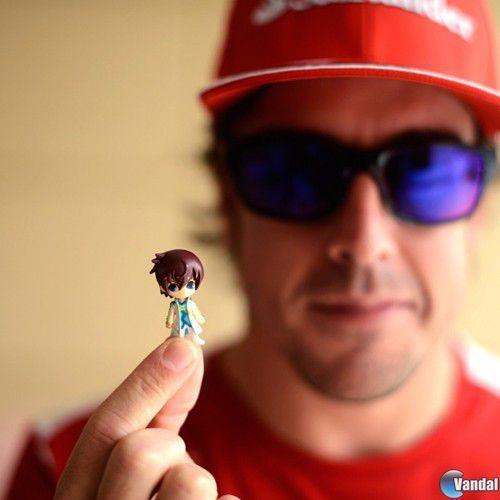 Fernando Alonso usa como amuleto una figura de Tales of Graces
