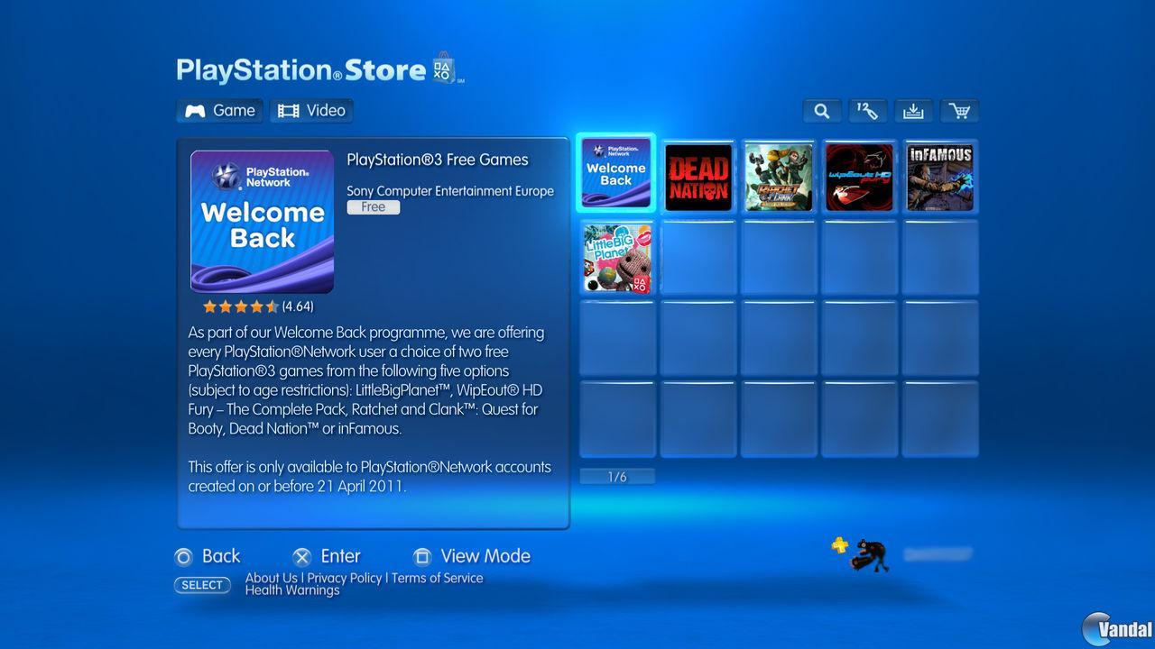 Ya está disponible el Welcome Back para usuarios de PlayStation 3 y PSP 201163182454_1