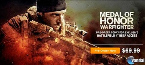 [N]MOH Warfighter dará acceso a la Beta de BF4
