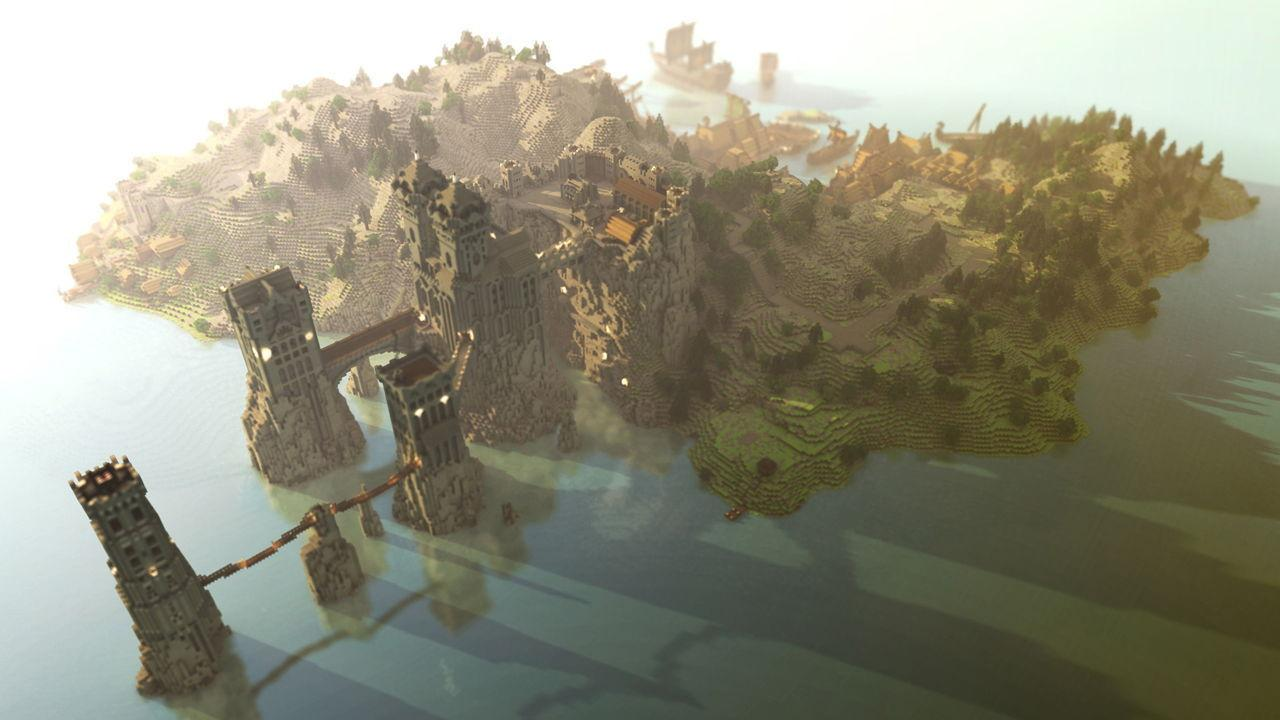 The recreation of the world of Game of Thrones in Minecraft shows progress
