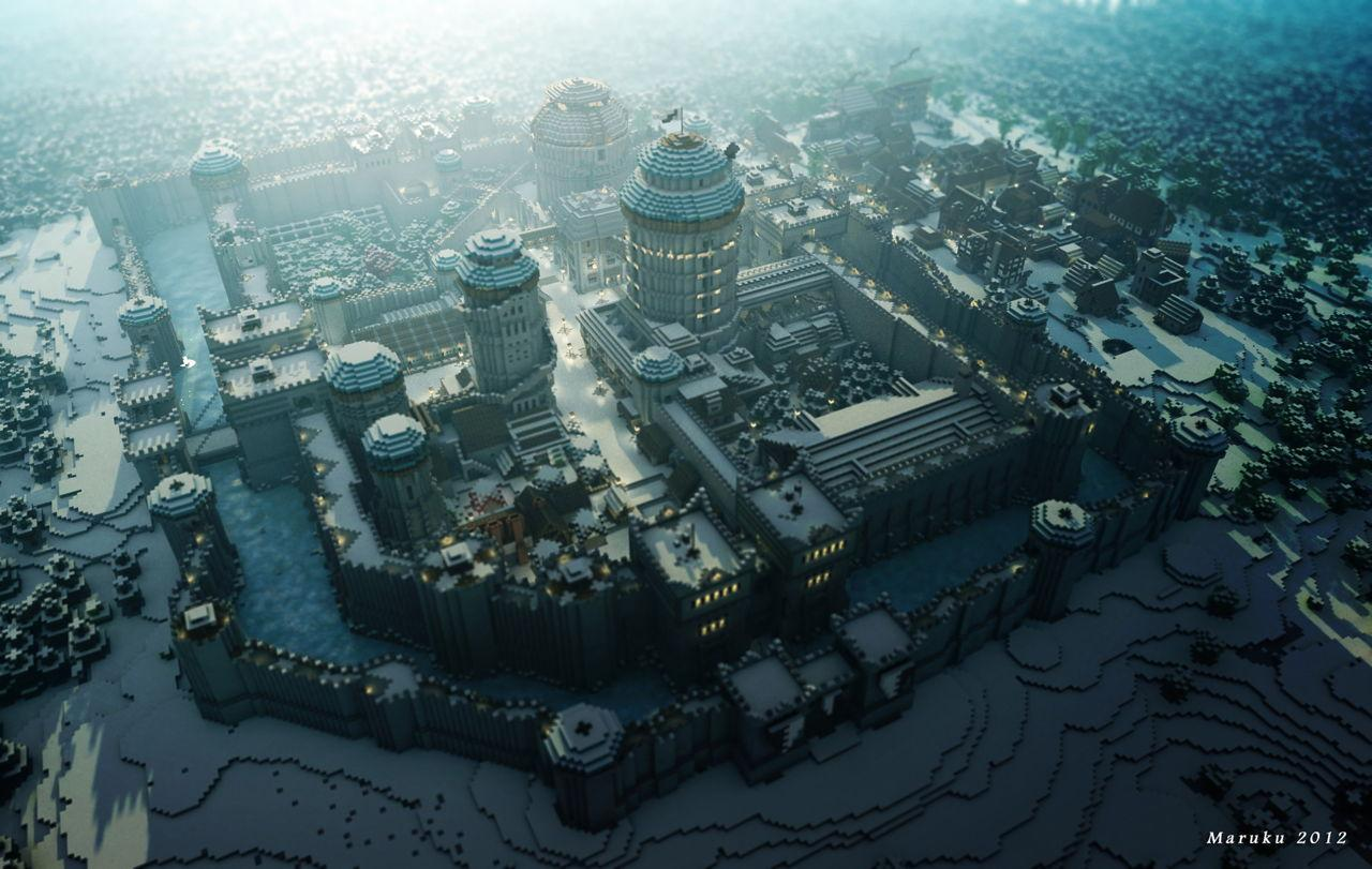 The recreation of the world of Game of Thrones shows progress in Minecraft
