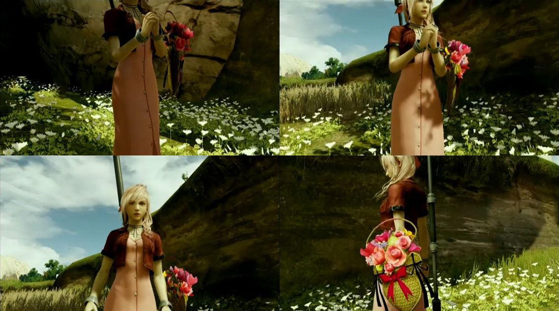 Sus trajes de yuna y aerith en lightning returns final fantasy xiii