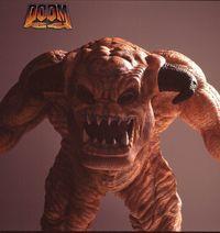 The artist of the Doom series teaches the original sculptures of his creatures