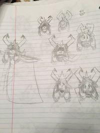 The creator of Undertale sample designs, and sketches of the early stages of the game