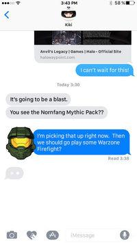 iMessage iPhone receives stickers official of the Halo universe