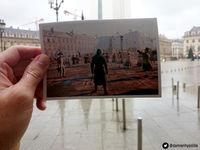 A fan shows images of Assassin's Creed Unity superimposed in real places in Paris