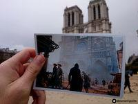 A fan shows images of Assassin's Creed Unity superimposed on real places in Paris