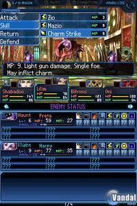 Pantalla Shin Megami Tensei: Strange Journey