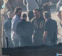 First images of shooting the film Assassin's Creed with Michael Fassbender