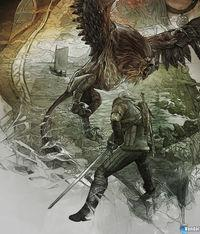 Shown artwork to decorate the 'steelbooks' The Witcher 3