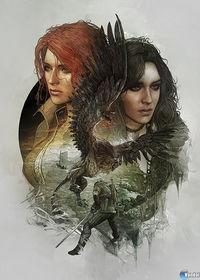 Displayed artwork to decorate the 'steelbooks 'The Witcher 3