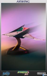 First 4 Figures It presents his recreation of the Arwing Star Fox