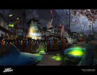 An artist of Sunset Overdrive shows new artwork