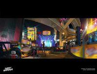 An artist shows new illustrations Sunset Overdrive