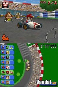 Pantalla Mario Kart DS