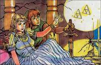 Se muestran las ilustraciones originales de The Legend of Zelda