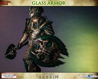 Gaming Heads presents the figure of the Glass Armor Skyrim