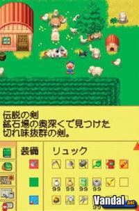 Pantalla Harvest Moon DS