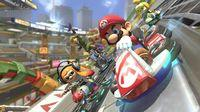 Shown the gameplay of Mario Kart 8 Deluxe