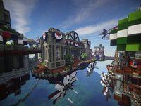 recreate Columbia City BioShock Infinite in Minecraft