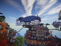 Recreate Columbia, the city of BioShock Infinite in Minecraft
