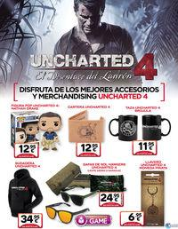 GAME offer different merchandising to celebrate the launch Uncharted 4