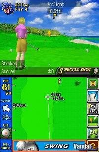 Pantalla Nintendo Touch Golf: Birdie Challenge