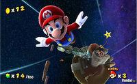 Pantalla Super Mario Galaxy
