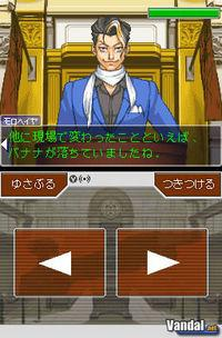 Pantalla Phoenix Wright: Ace Attorney Justice For All