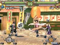 Pantalla Naruto: Ultimate Ninja 2