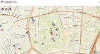 An interactive map provides real-time locations Pokémon Pokémon GO