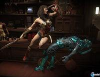 Wonder Woman and Blue Beetle are shown in Injustice 2