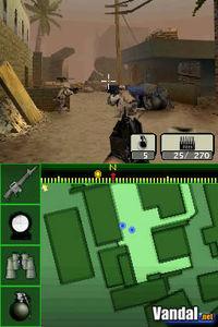 Pantalla Call of Duty 4: Modern Warfare DS