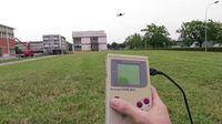 They fly a drone with a classic Game Boy