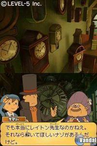Pantalla Professor Layton y el futuro perdido