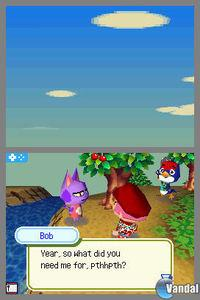 Pantalla Animal Crossing: Wild World
