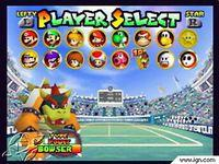 Pantalla Mario Tennis 64