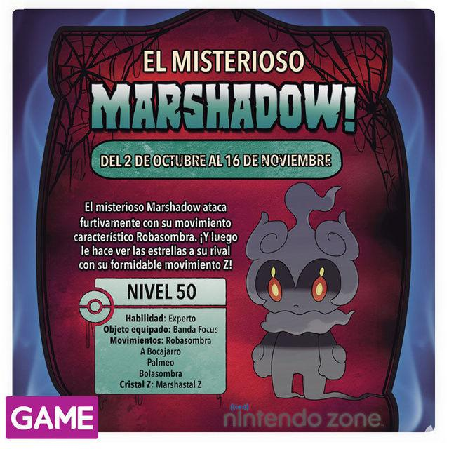 GAME distributed at the Nintendo Zone in the Pokémon Marshadow of Sun and Moon