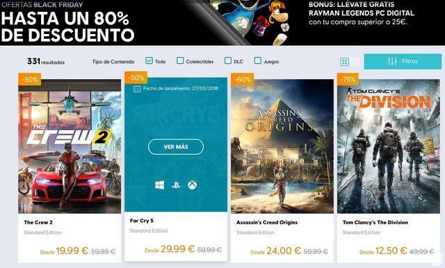 Black Friday 2018: Todas las ofertas de videojuegos