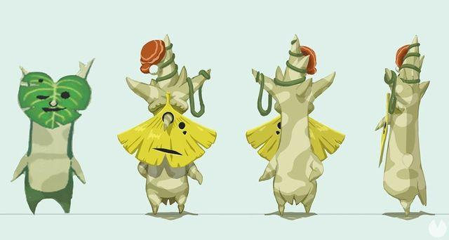 The koroks star in the new illustration of The Legend of Zelda: Breath of the Wild