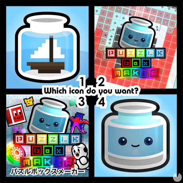 Ask users to vote for the menu icon Puzzle Box Maker